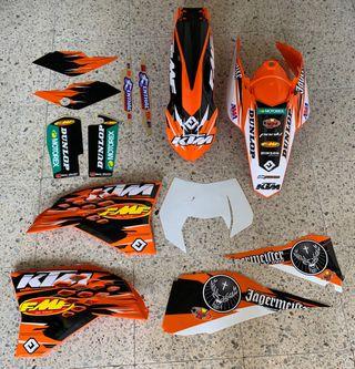 Kit plasticos fmf ktm 08-11. Envio gratis