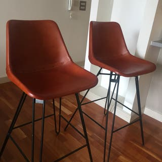 Leather stools chair