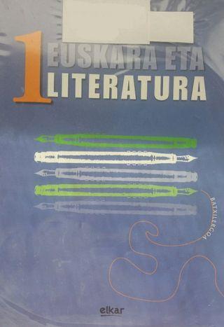 Libro de euskera y literatura de 1° bachillerato