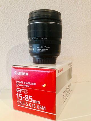 Objetivo canon EFS 15-85 f 3.5-5.6 IS USM