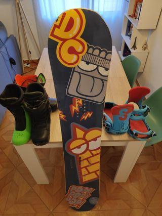 Pack de snowboard polivalente DC, Burton y Union