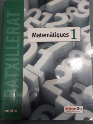 Matemáticas 1 bachillerato ISBN 9788468320847