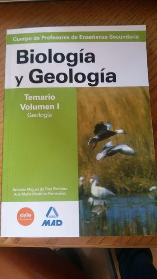 Libro Biología Oposición Secundaria Ed. MAD