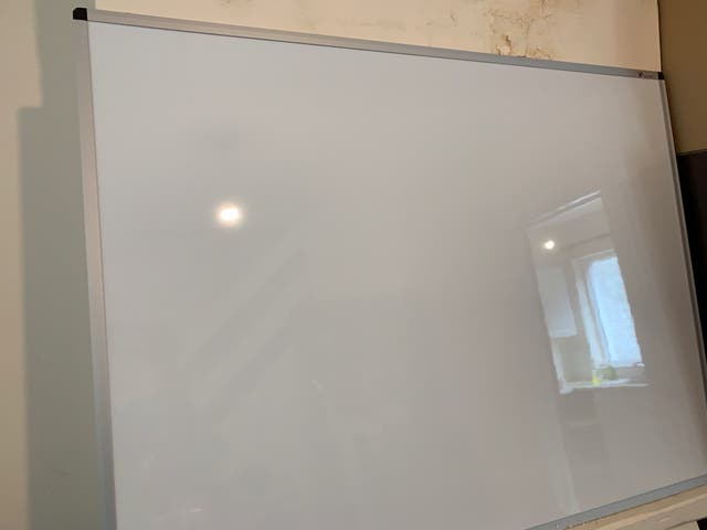 Brand new whiteboard with stand