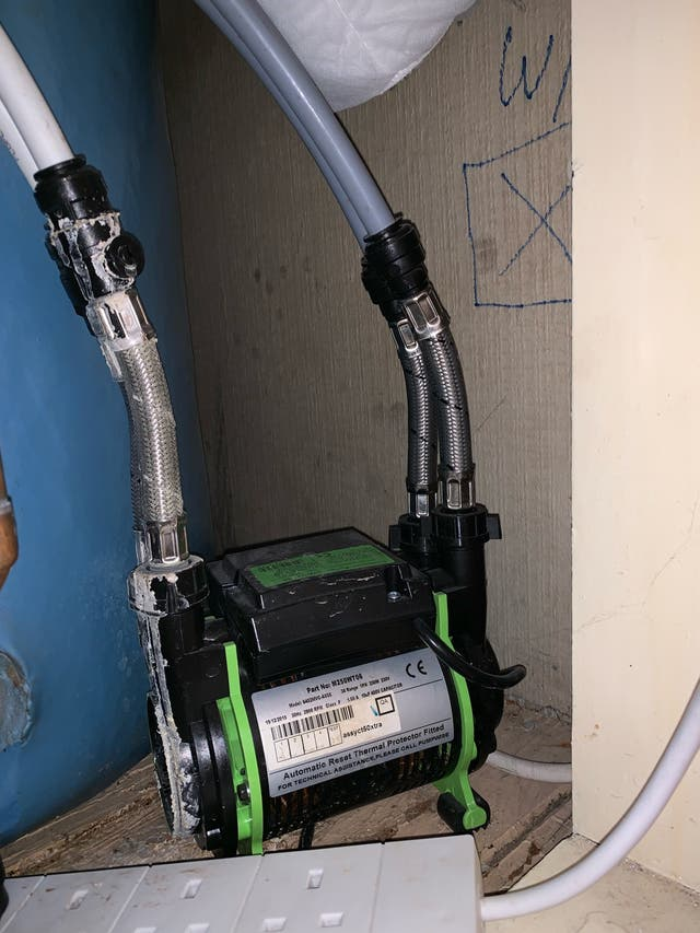 Water pump for shower