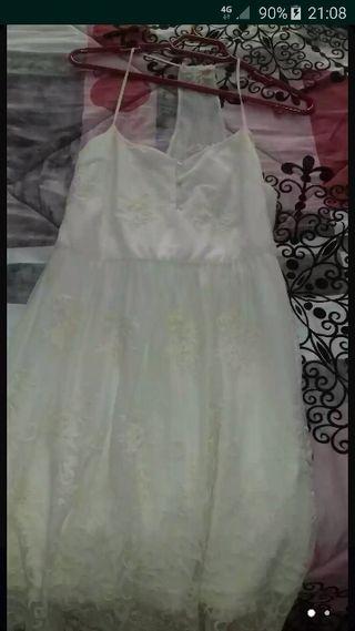 vestido corto blanco talla l