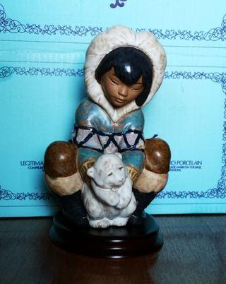 Figura Lladró Esquimal y oso