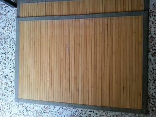 2 alfombras de bambú