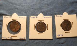 Monedas medievales y modernas.