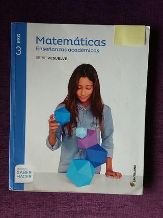 libro de texto 3° ESO - Matemáticas académicas