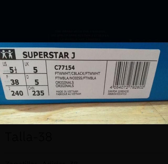 Playeras Adidas Originals SuperStar Unisex Talla38