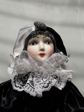 Muñeca Arlequín de porcelana de Ramón Inglés