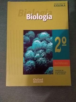 Libro de 2 de bachillerato de Biología.Oxford