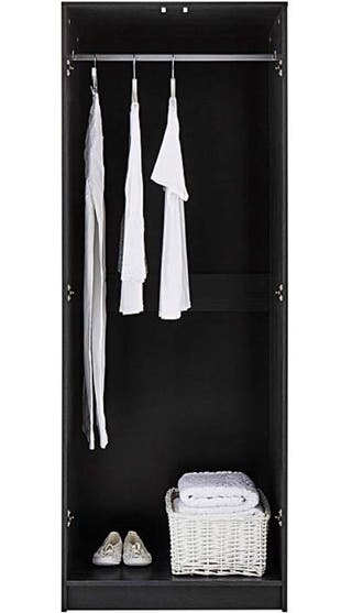Black ash effect 2 door wardrobe