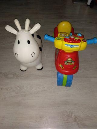 Vaca saltadora y Moto con sonido