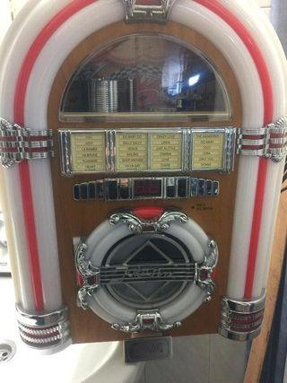 GRAMOLA RADIO CD SD USB AUXILIAR COCACOLA RETRO