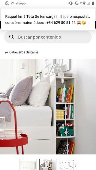 Cabecero 140 cm de Ikea. Modelo Brimnes