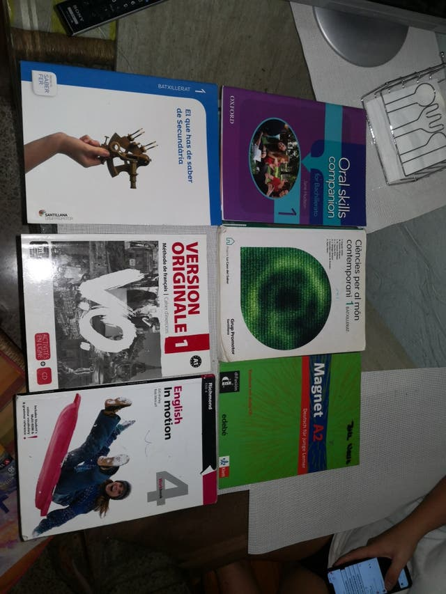 libros 1° y 2° bachiller