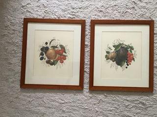 Pareja cuadros frutas
