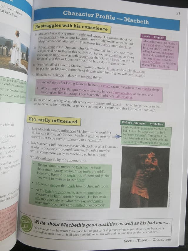 GCSE English Macbeth Text Guide GCP