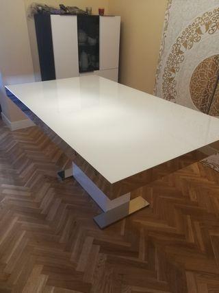 Mesa de comedor blanca buena calidad
