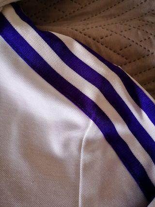 Adidas Jacke weiß lila Streifen Gr.S ,Vintage second hand