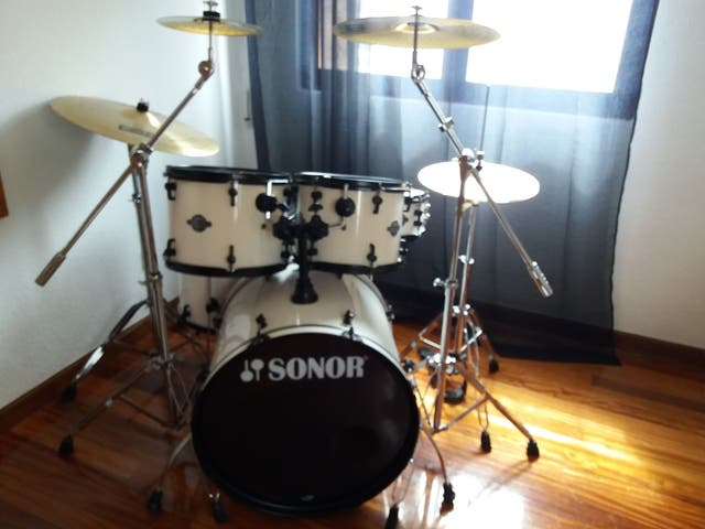 Batería Sonor Smart Force Snow White Stage
