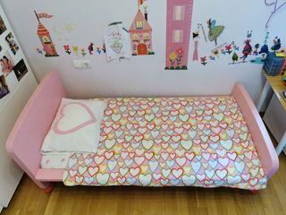 cama infantil niña princesa rosa de Ikea, Mammut