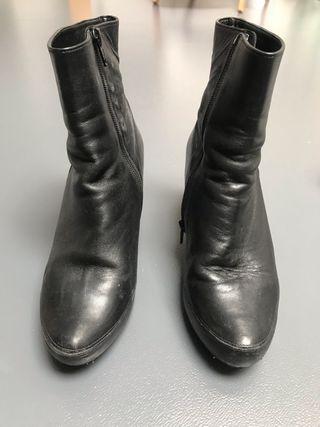 Botines noir cuir