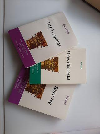 """Libro """"Las troyanas"""" """"Miles gloriosus"""" """"Edipo rey"""""""