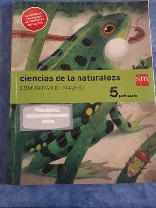 libro 5° ciencias de la naturaleza sm savia