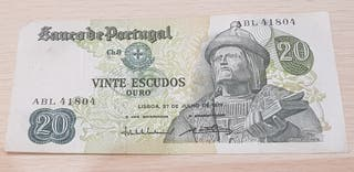 Billete De Portugal 20 Escudos