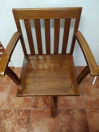 Silla de escritorio de madera de roble