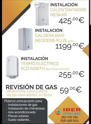 instalamos termos, calentador heaters and boilers