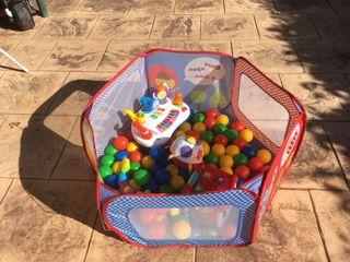 Pack parque bolas y juguetes infantiles