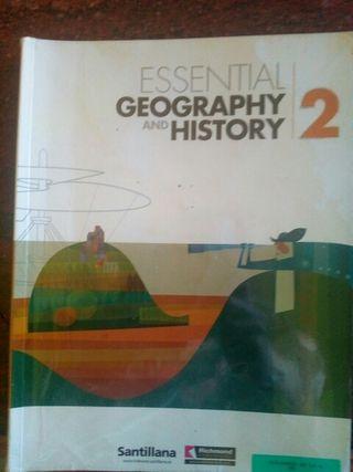 Libro de geografía e historia en inglés