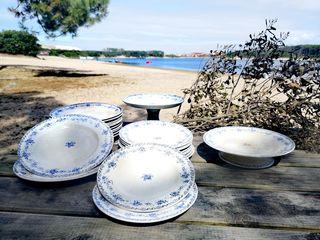 Vajilla porcelana francesa St. Amand