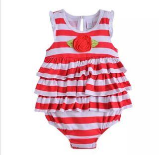 body bebé niña nuevo con volantes 6/9 meses
