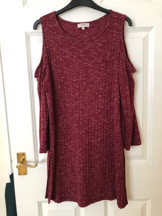 Red cotton dress size 14