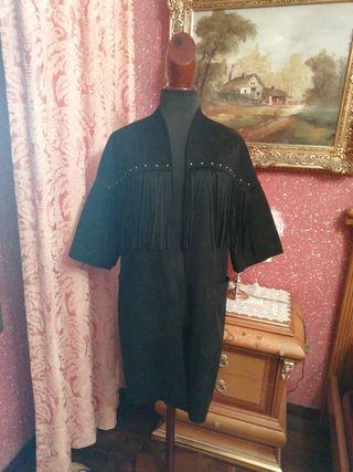 Abrigo NUEVO chaqueta cazadora negra talla M negro