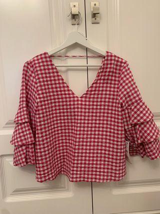 Blusa Zara Vichy rosa