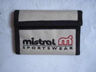 cartera gris Mistral antigua vintage