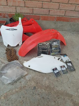 Honda Cr 125 250 Plásticos disco kit cadena