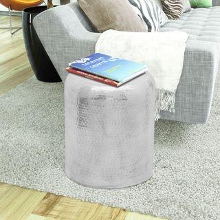 vidaXL Taburete/mesa de centro de aluminio 242326