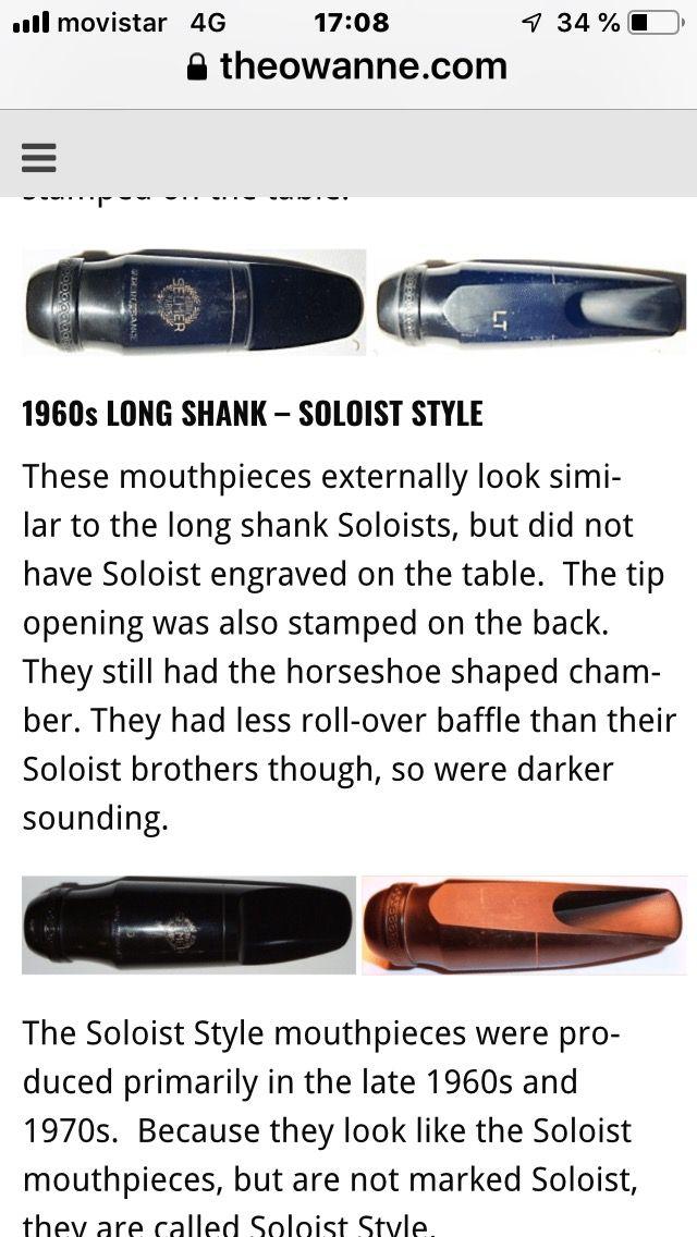 Vendo boquilla saxo tenor Selmer Soloist style