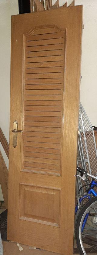 puertas de madera maciza, color haya