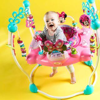 saltador bebe Minnie Mouse Rosa columpio rebotador