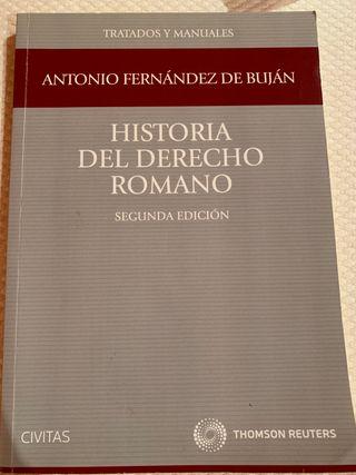 Libro de Historia del Derecho Romano