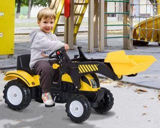 Excavadora tractor amarillo niñ@s NUEVO