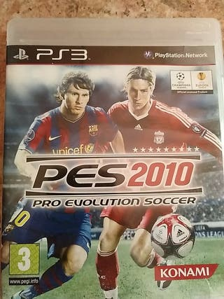 juego PS3 pes 2010 pro Evolution soccer